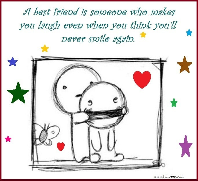 can make you smile best friend quotes