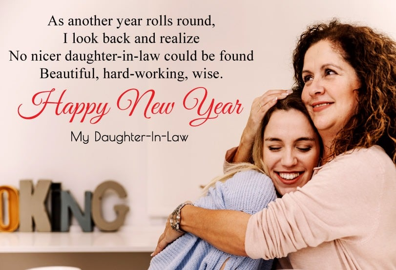 Happy New Year Wishes for daughter in law
