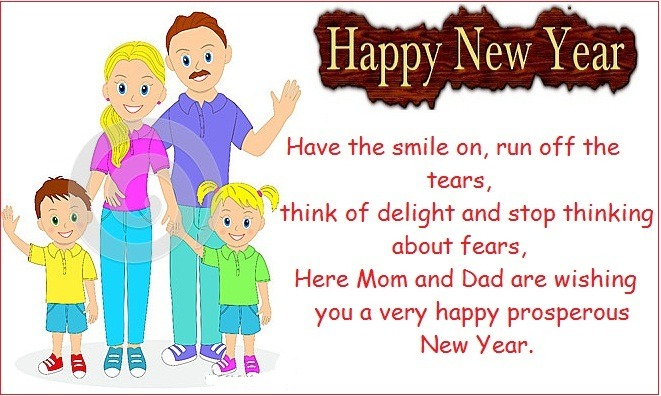 Happy New Year Wishes for daughter son