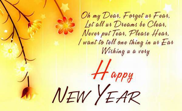 happy new year wish greeting cards