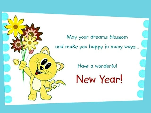 lovely new year wish