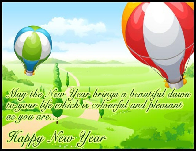 new year wish card