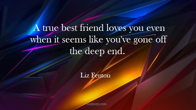 Liz Fenton friends quote