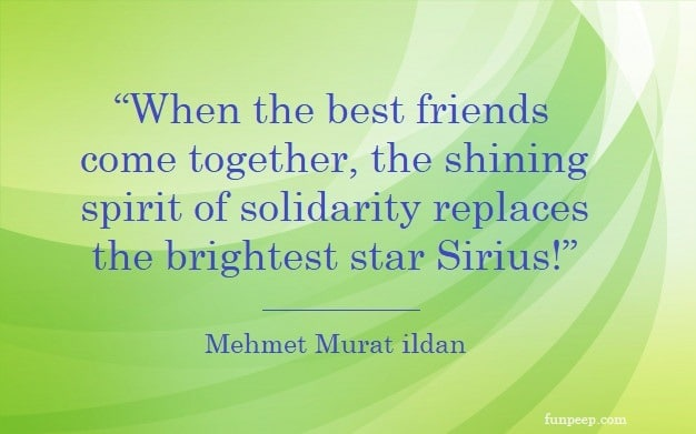 When the best friends come together, the shining spirit of solidarity replaces the brightest star Sirius