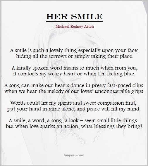 Her Smile - Michael Rodney Attoh Love Poem