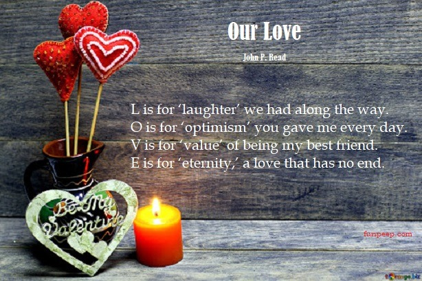 Our Love John P. Read Love Poems